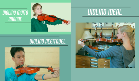tamanho do violino exemplos