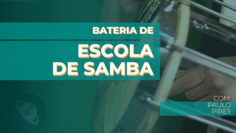 curso de percussão - bateria de escola de samba