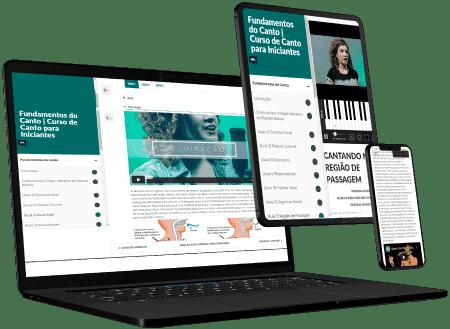 Cursos de canto online pelo computador ou celular
